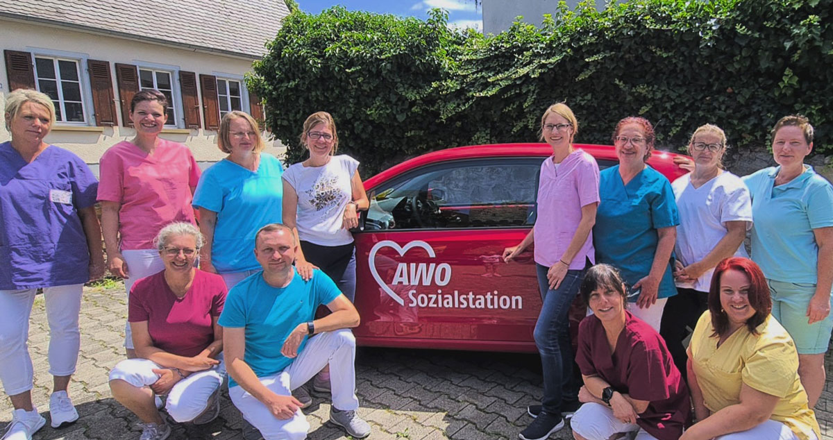 Das Team der AWO Sozialstation Alzey